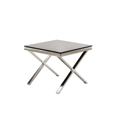Casa Zara End Table Lamptable, Silver