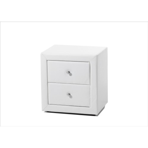 Casa Trieste 2 Drawer Bedside Table, White