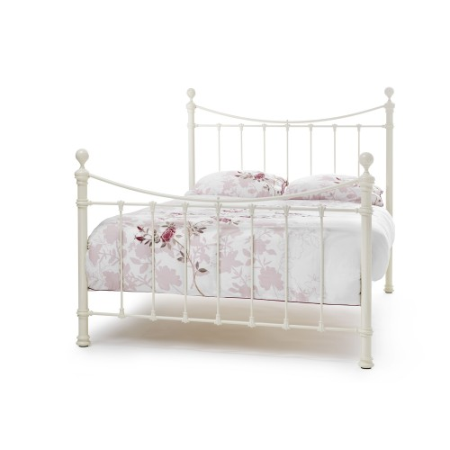 Casa Ethan Small Double Bed Frame, Ivory