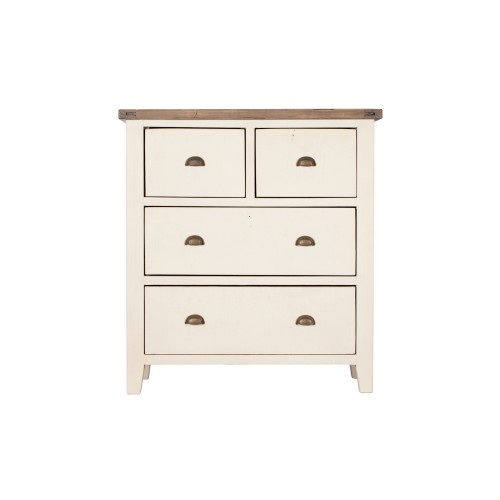 Casa Cotswold 4 Drawer Chest, White