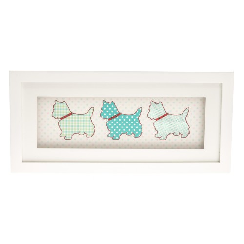 Casa Scotty Dog Frame Landscape, White