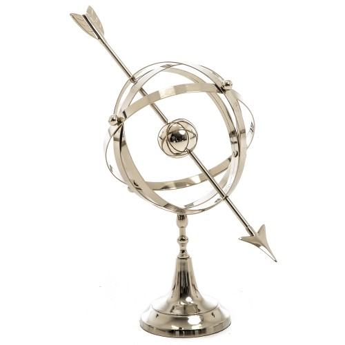 Casa Armillary Ornament, Silver