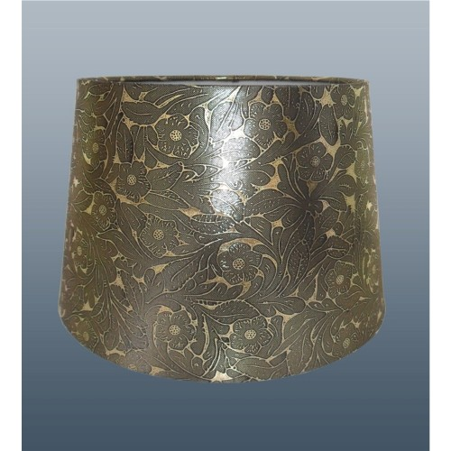 "12"" Foile Empire Drum Shade, Pure Gold"