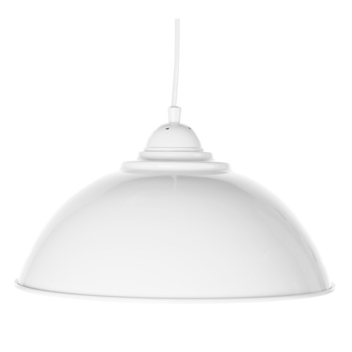 Casa Hendrick Electrified Pendant, White