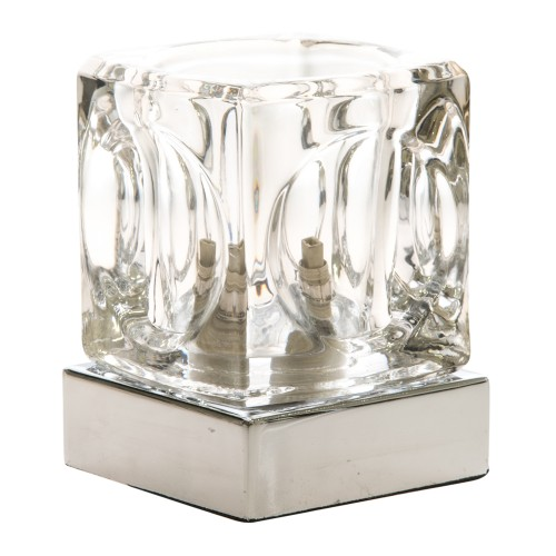 Casa Temple Touch Table Lamp, Chrome