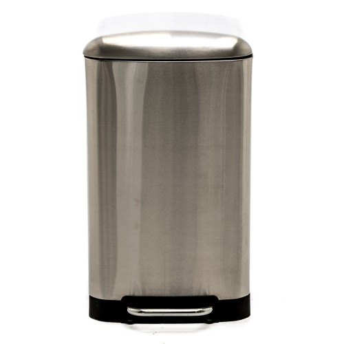 Casa 30l Rectangular Bin, Stainless Steel