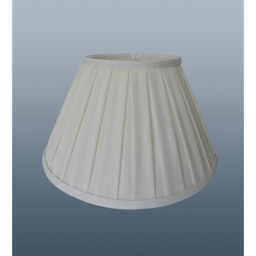 Enya Box Pleat Shade 8'', Light Cream