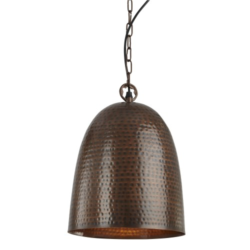 Searchlight Hammered Pendant, Antique Bronze