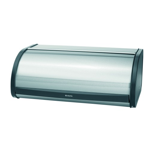 Brabantia Roll Top Bread Bin, Matt Fingerprintproof