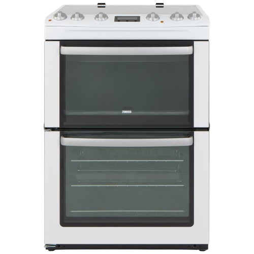 Zanussi Electric Cooker & Double Oven, White