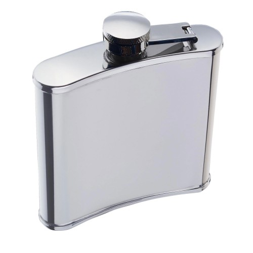 Kitchencraft Hip Flask 170ml, Silver
