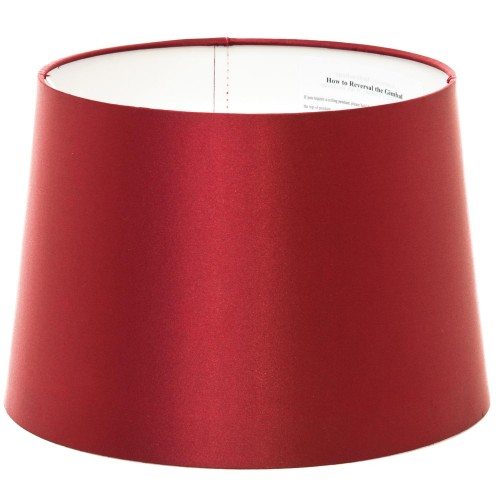 "12"" Empire Shade Silk Shade Cranberry"