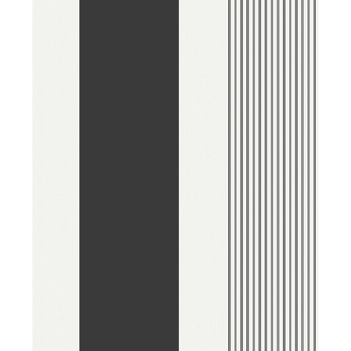 Holden Decor Akina Stripe Black / White, Stripe Black/white