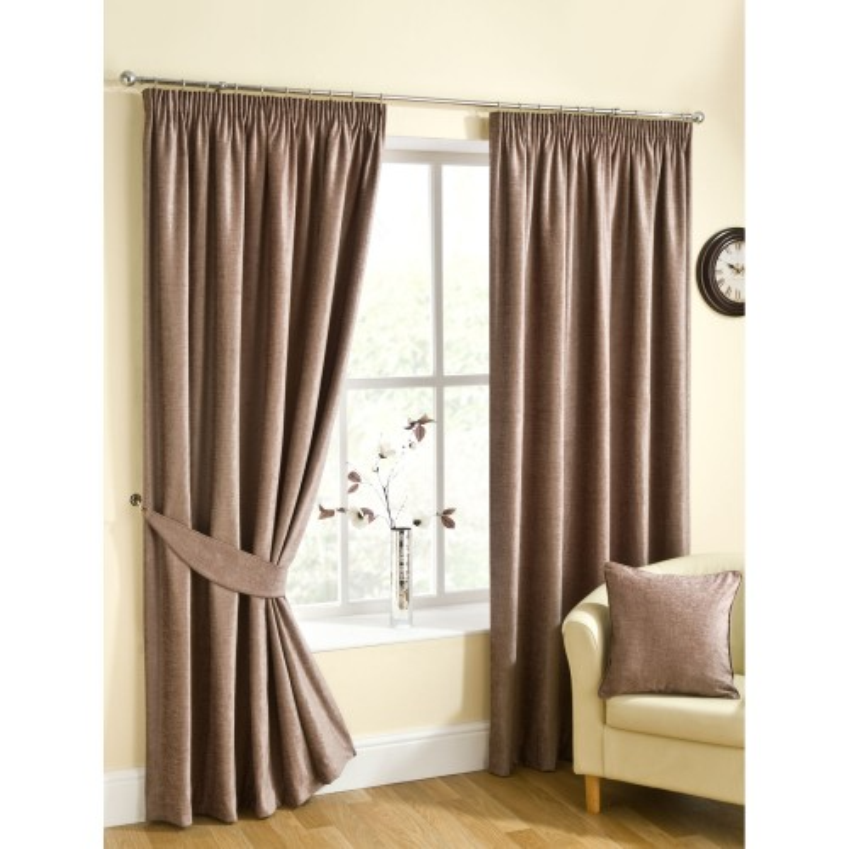 Belfield Rico Ready Made Curtain 229x183cm, Mink