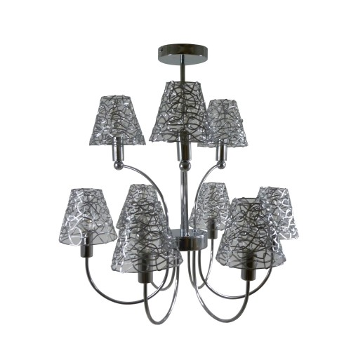 Casa Mayfair 9 Light With Mesh, Chrome