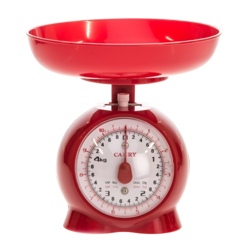 Casa Mechanical Kitchen Scale, Red