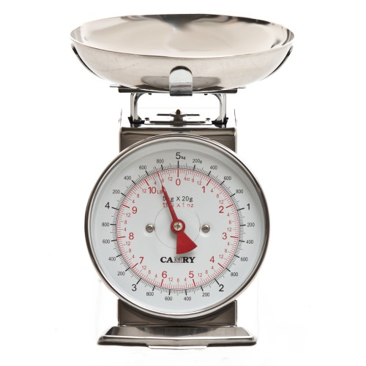 Casa Retro Mechanical Kitchen Scale, Silver