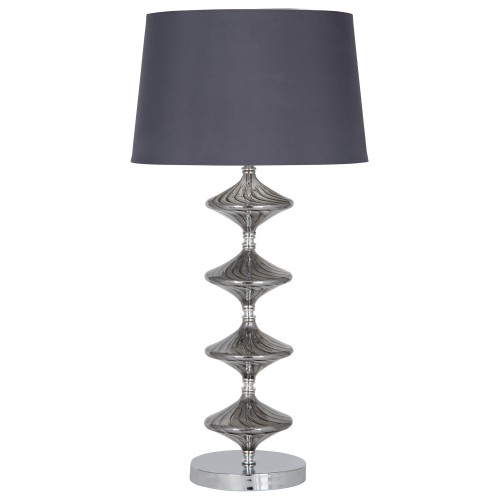 Aimbry Gabby Grey Glass Table Lamp, Grey