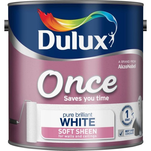 Dulux 5L Once Soft Sheen Pure Brilliant White