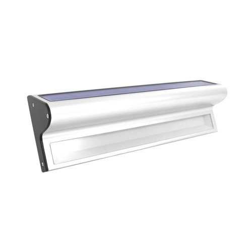 The Solar Centre Kensington Solar Wall Light, Silver