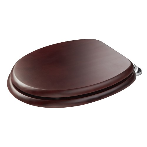 Croydex Mahogany Seat With Chrome, Mahongany
