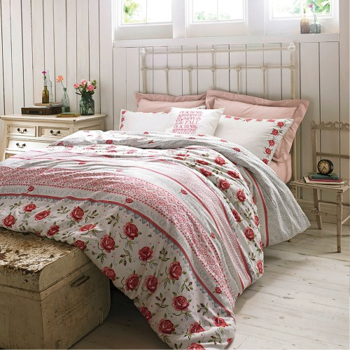 Emma Bridgewater Rose & Bee Superking Quilt Cover, Multi