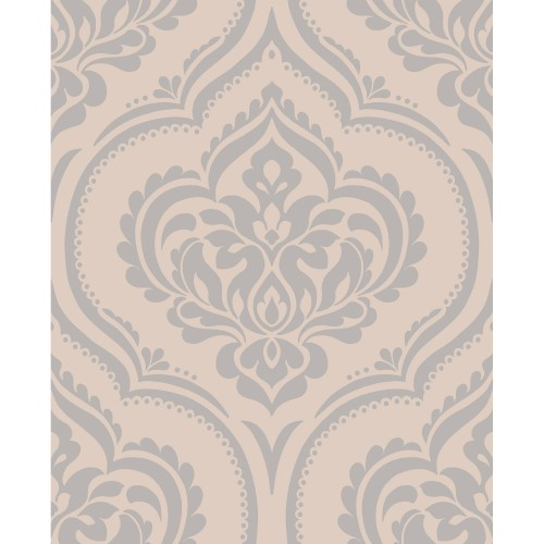 Fine Decor Sparkle 2 Ornamental Damask, Taupe
