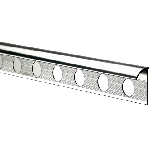 8mm Round Edge Tile Trim, Chrome