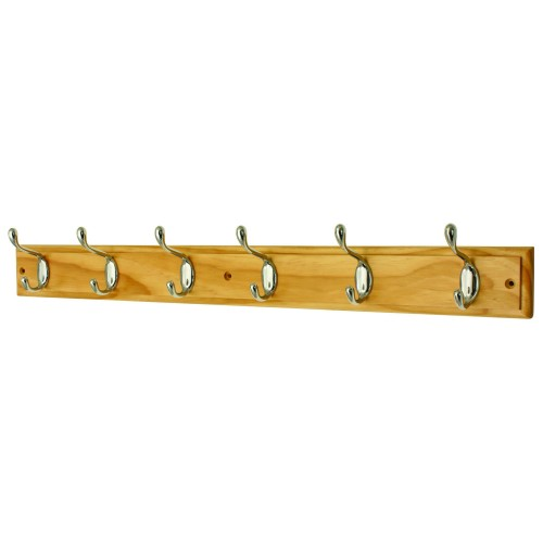Headbourne 6 Heavy Duty Hooks on Wooden Board Coat Rack Hanger