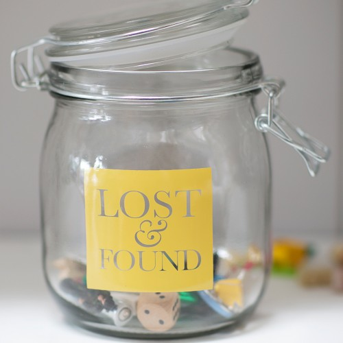 Garden Trading Glass Storage Jar Lost & Found, Asstd