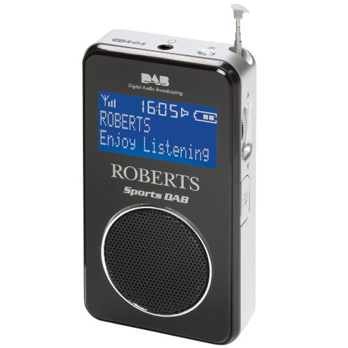Roberts Sportsdab 2 Digital Radio, Black