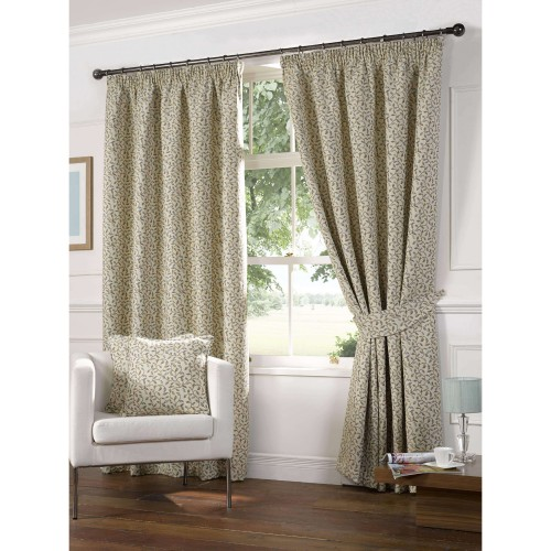 Gordon John Laurel Curtain Blue 117x137, Blue