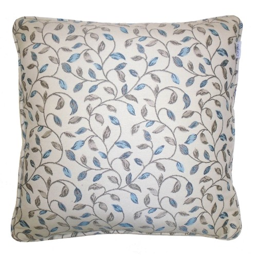 Gordon John Laurel Feather Cushion Blue, Blue