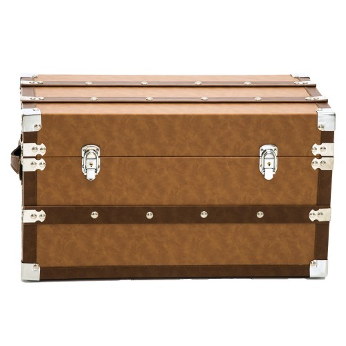 Casa Leather Trunk Small, Brown