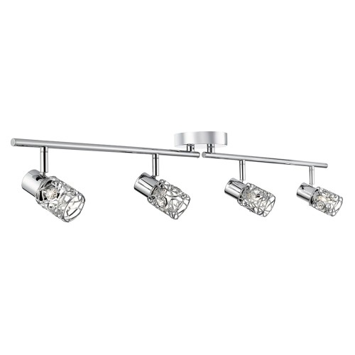 Mesh 4 Spot Bar Light, Chrome