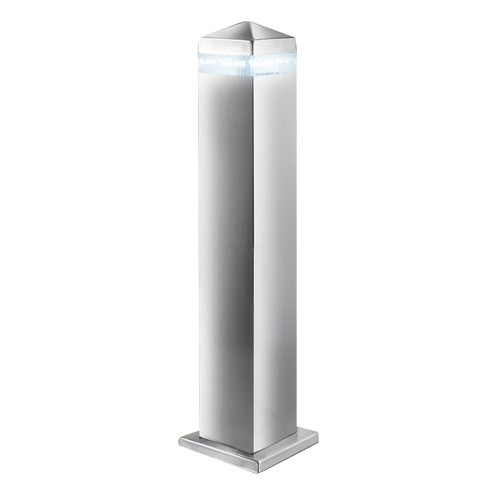 Led Square Bollard, Stainless Steel