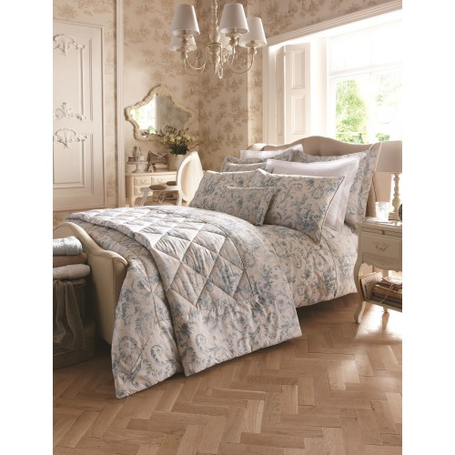 Dorma Woodville Double Quilt Cover, Blue