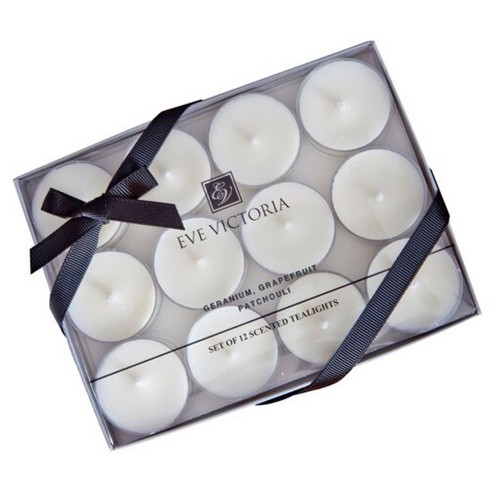Eve Victoria Tea Lights - Geranium, Grapefruit & Patchouli