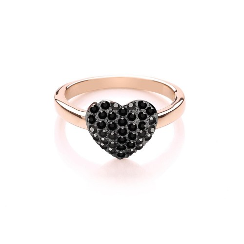Buckley London Miniature Heart Ring, Multi