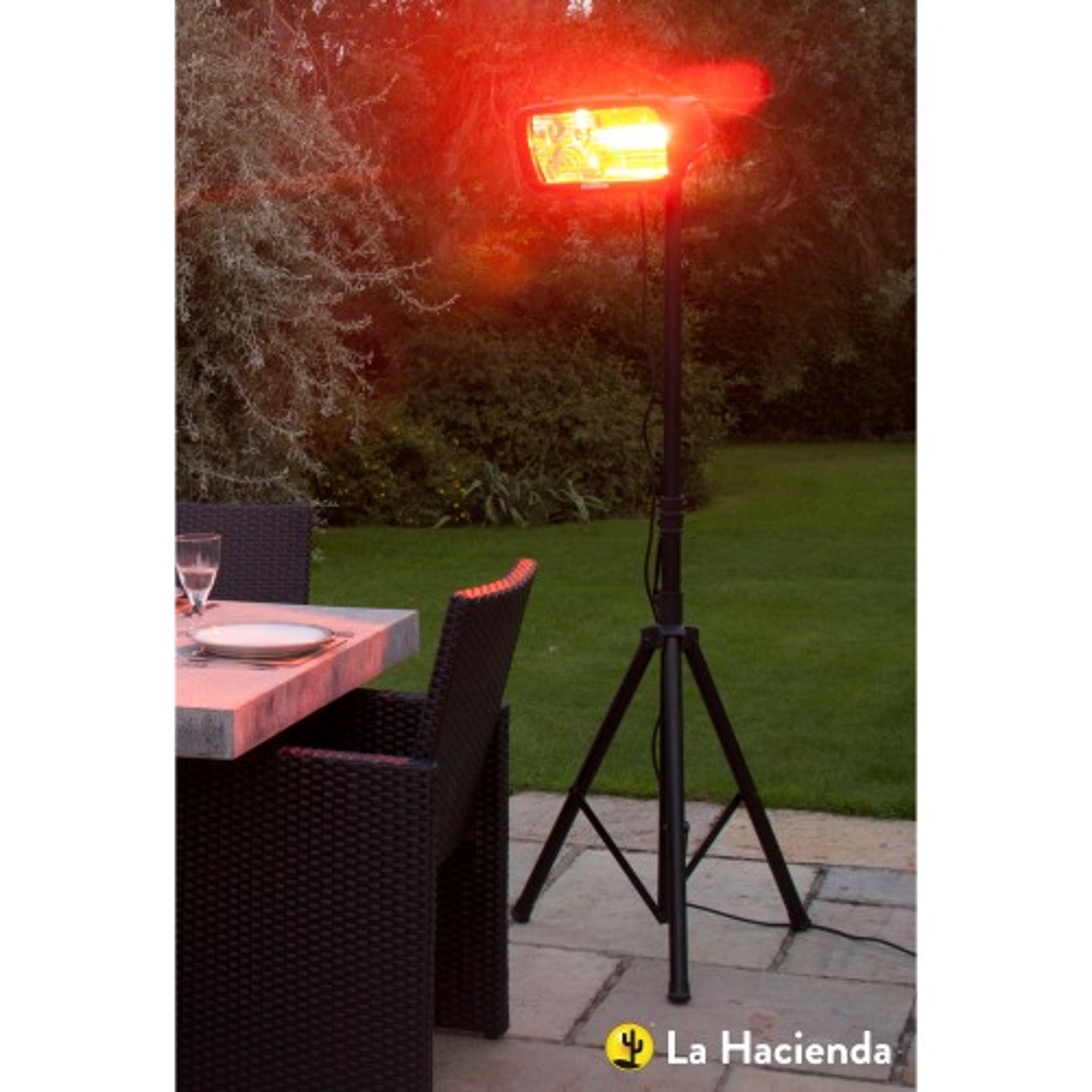 Heatmmaster Royal Infrared Heater, Black/red Bulb