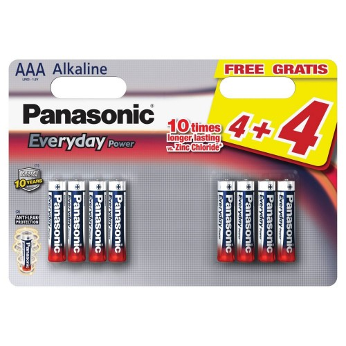 Panasonic AAA 4 + 4 Silver Promo Pack