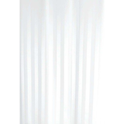 Euroshowers Satin Stripe 180x180 Curtain, White