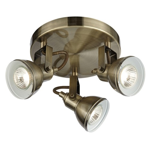 3 Light Antique Brass Spot, Antique Brass