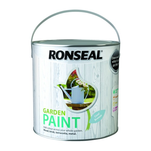 Ronseal 2.5l Garden Paint, Cool Breeze
