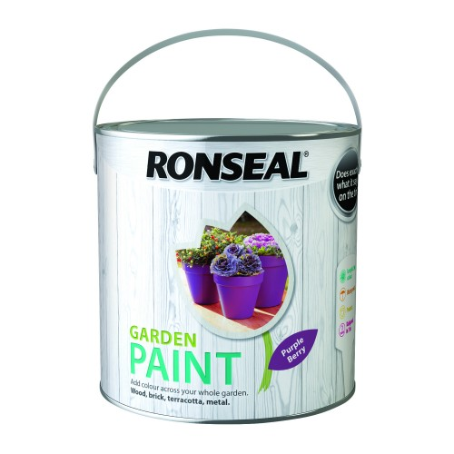 Ronseal 2.5l Garden Paint, Purple Berry