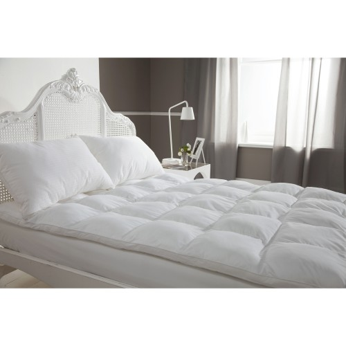 Fine Bedding Company Clusterfull Toppers Double, White