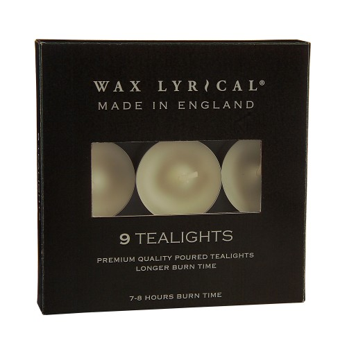 Wax Lyrical Box of Unscented Tealights, White