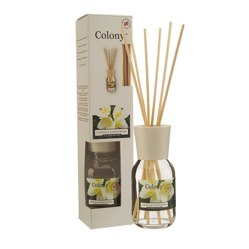 Colony Reedd Diffuser 120ml Jasmine and Sandal Wood, White
