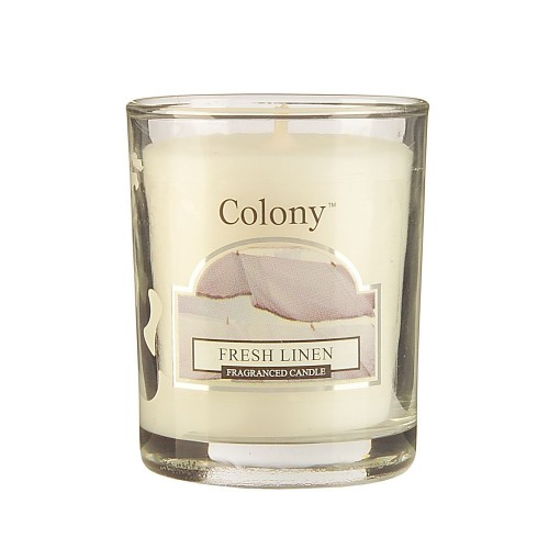 Colony Votive Candle Fresh Linen, White