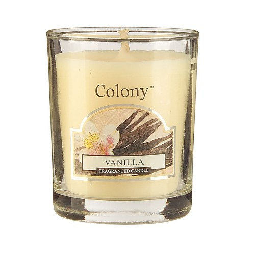 Colony Votive Candle Vanilla, White